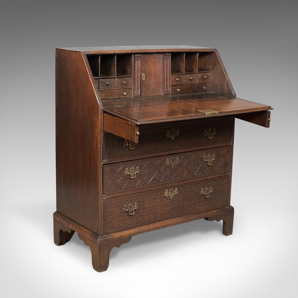 georgian antique bureau english oak writing desk antiques atlas. Black Bedroom Furniture Sets. Home Design Ideas