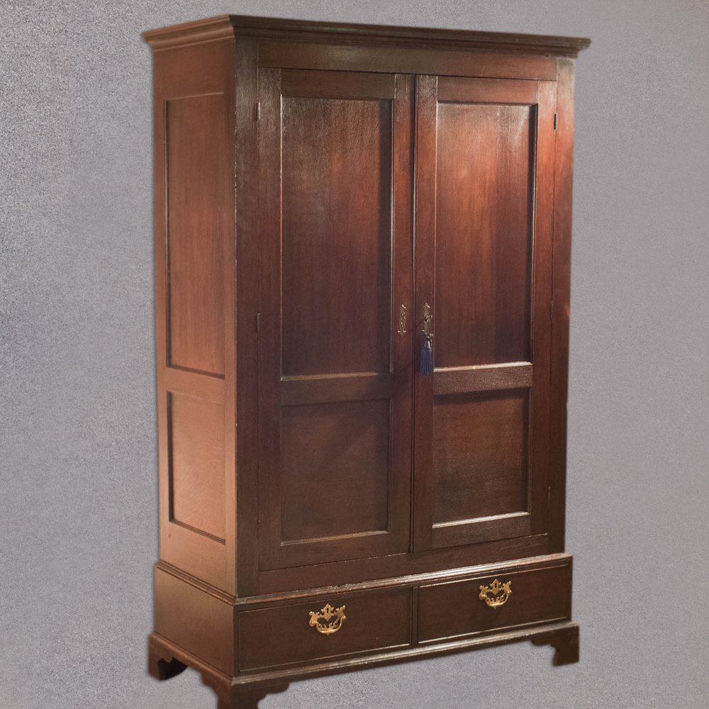 Georgian Panelled Wardrobe C 1800 Antiques Atlas