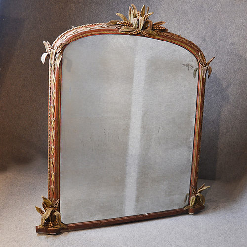 antiques atlas large wall mirror overmantle ornate