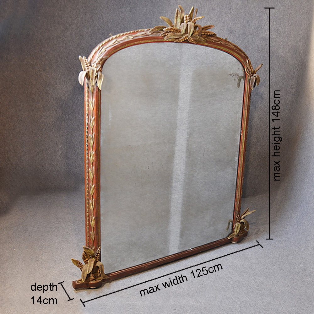 Antiques atlas large wall mirror overmantle ornate for Overmantle mirror