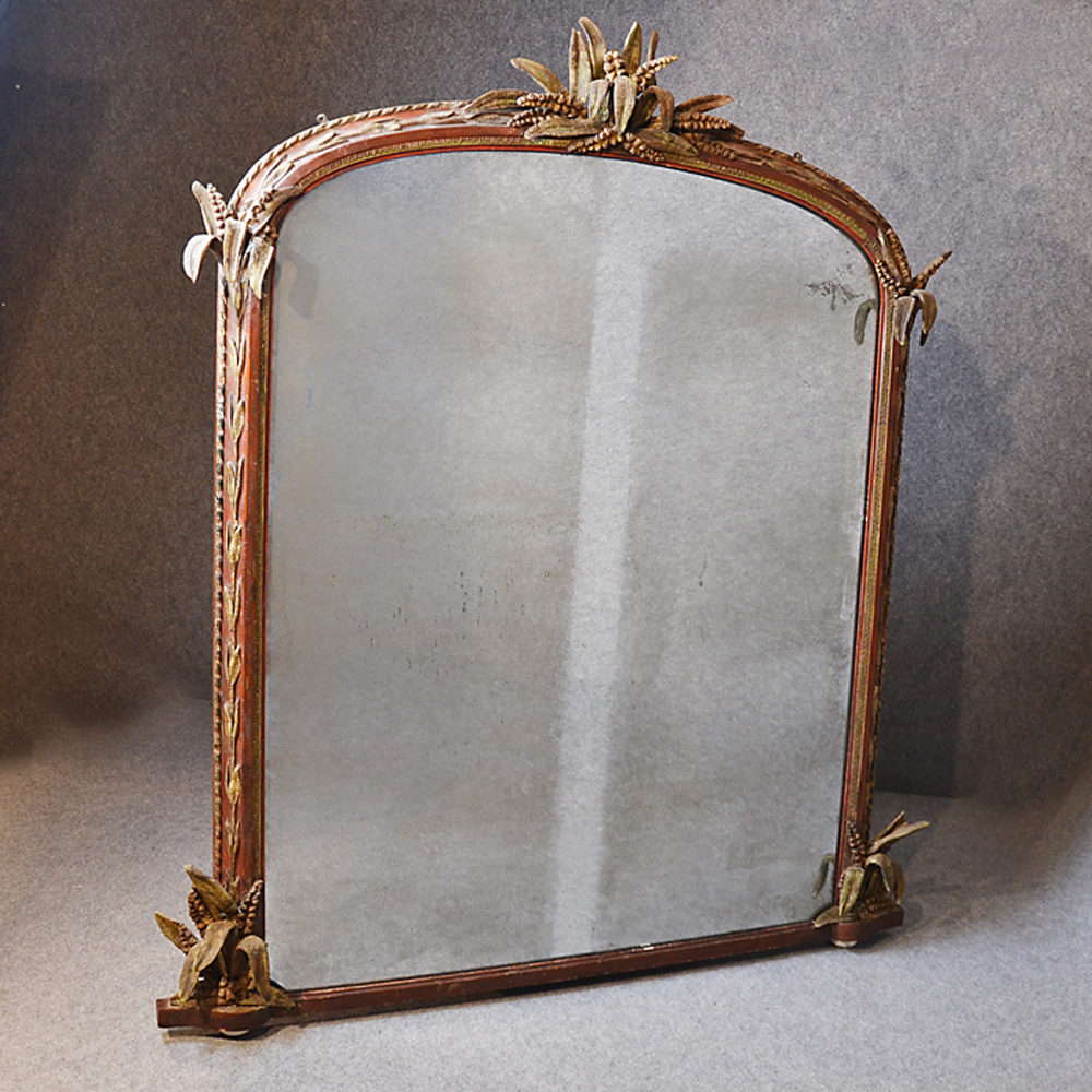Antiques atlas large wall mirror overmantle ornate for Antique wall mirrors