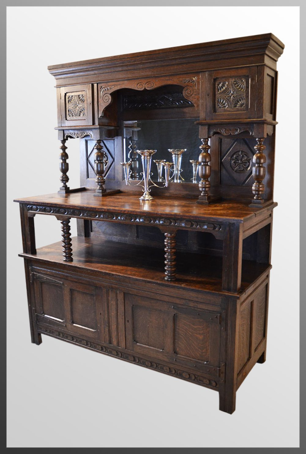 Large Welsh Country Dresser Kitchen Buffet Cabinet