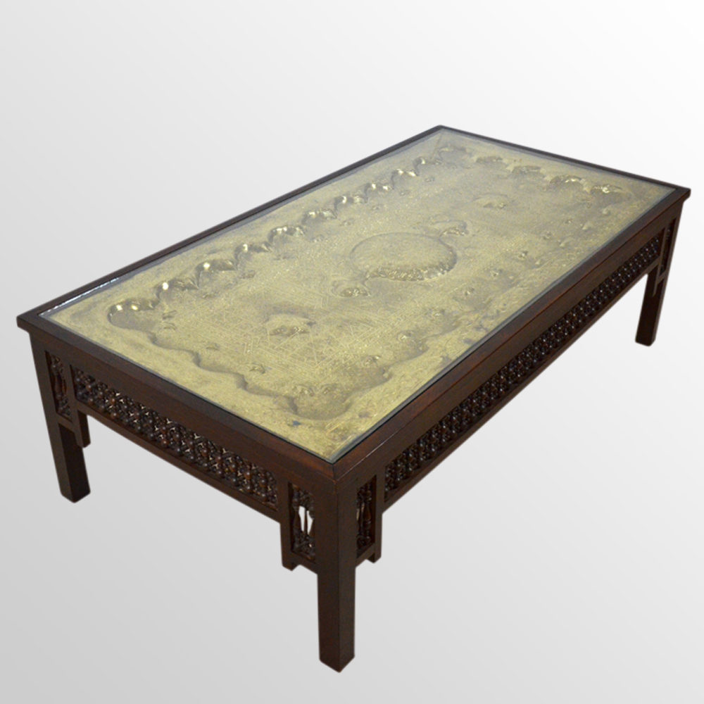 Low table large magazine coffee reception berber for Large low coffee table
