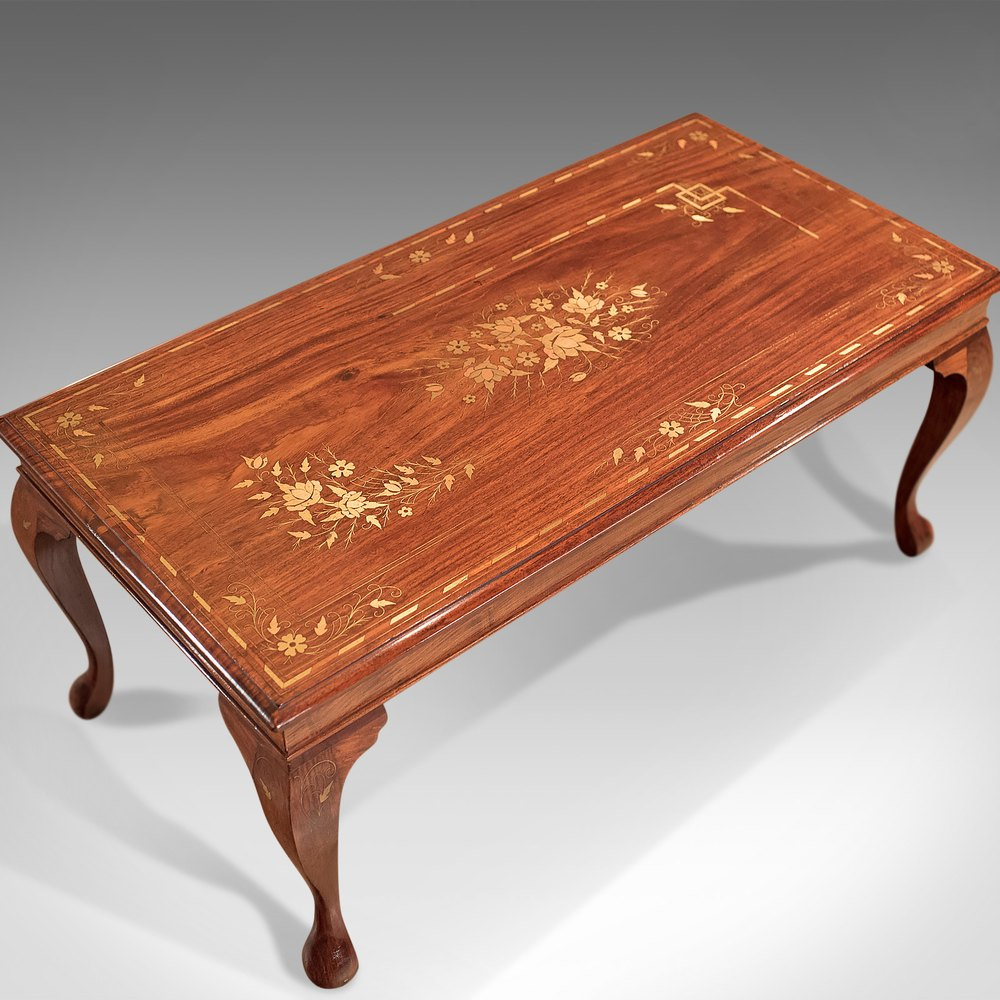 Antiques atlas mid century coffee table inlaid asian walnut