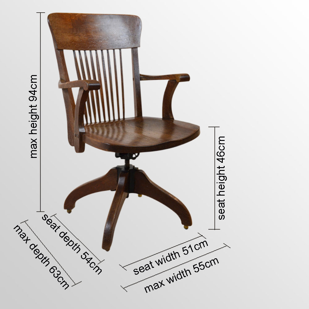 Office Study Chair J S Ford Johnson Chicago Antiques Atlas