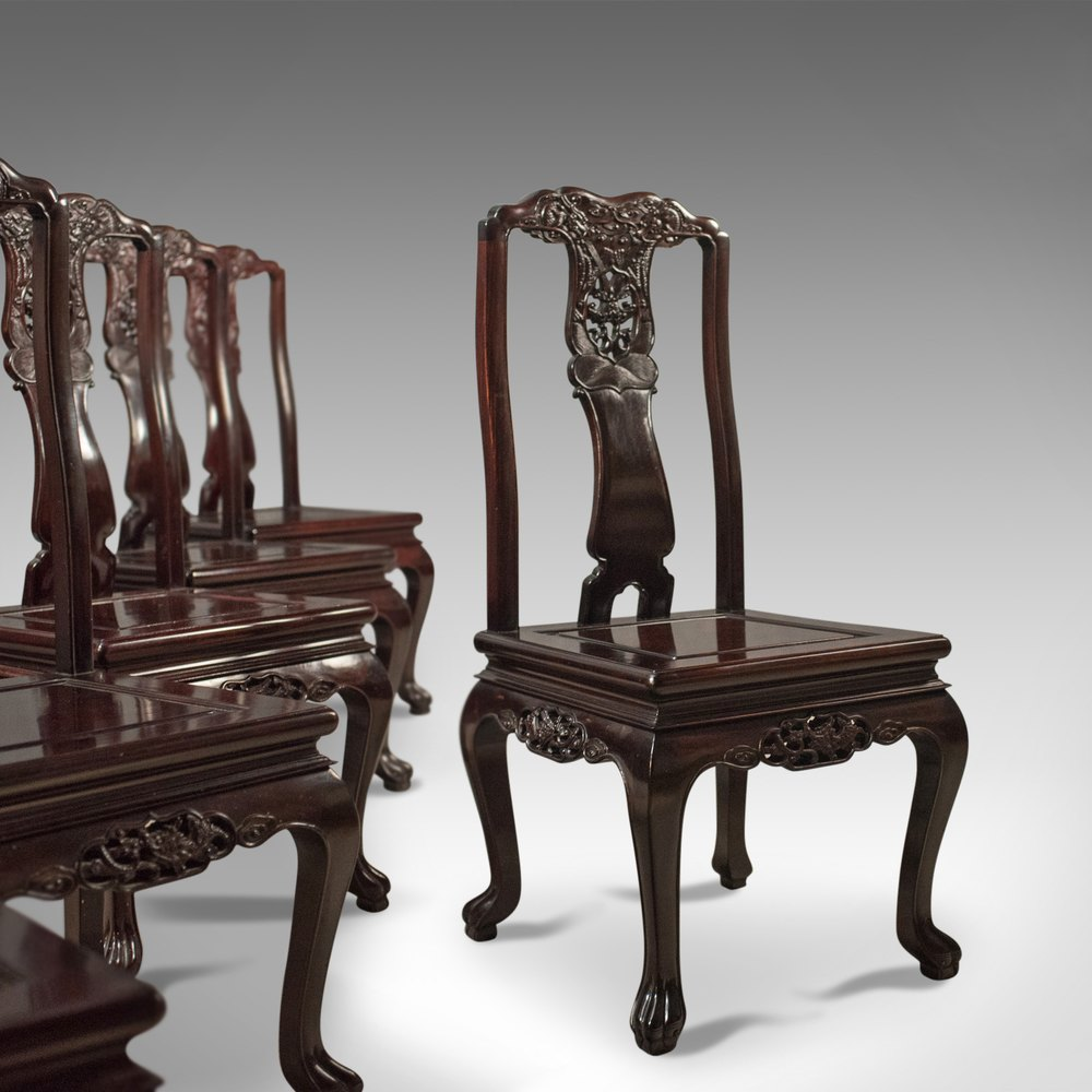 Antiques Atlas Oriental Rosewood Dining Table And Set Of