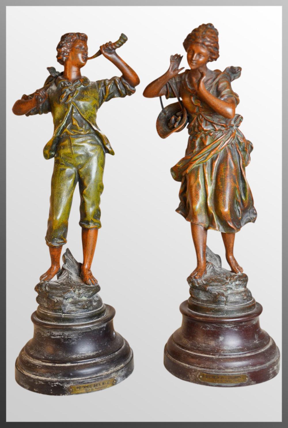 Antiques Atlas Pair Sculptures By Ernest Rancoulet Bronze
