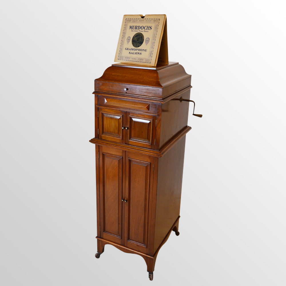 Phonograph Gramophone Record Player Music Cabinet Antique ... - Antiques Atlas - Phonograph Gramophone Record Player Music Cabinet