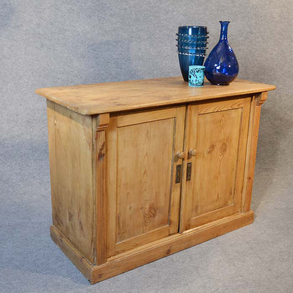 Pine Cabinet Twin Door Cupboard Chiffionier