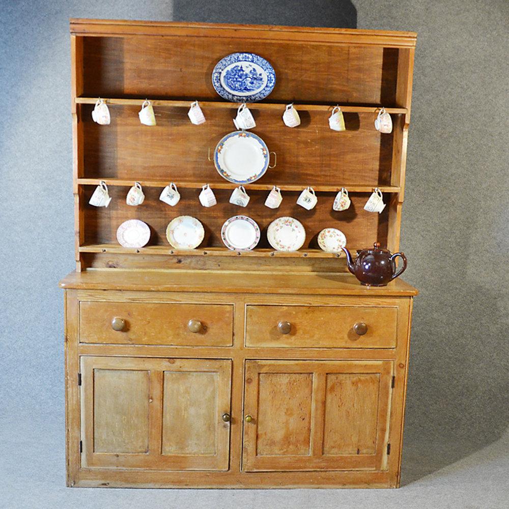Country Kitchen Dresser: Pine Dresser Welsh Country Kitchen Display Rack