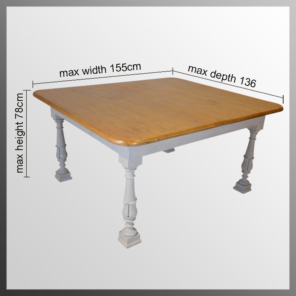 Pine large kitchen dining table 6 8 seater antiques atlas - Seat kitchen table ...
