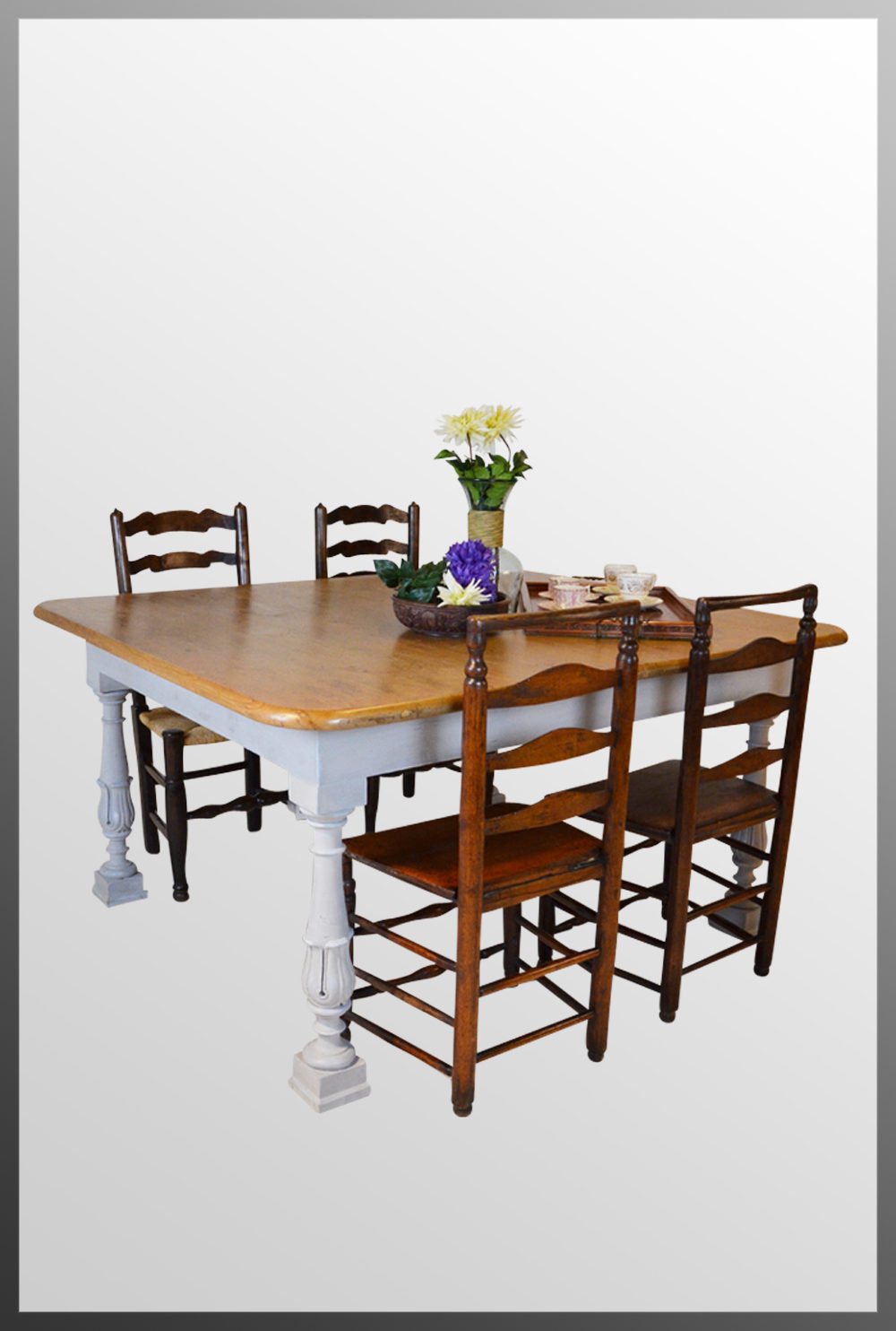 pine large kitchen dining table 6 8 seater antiques atlas. Black Bedroom Furniture Sets. Home Design Ideas