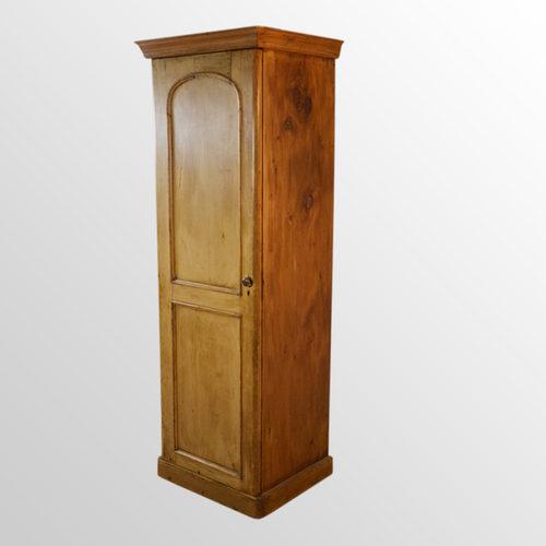 Pine Single Wardrobe Cabinet Tall Cupboard Closet - Antiques Atlas