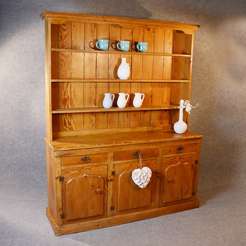 Pitch Pine Dresser Welsh Country Kitchen Cabinet Antiques Atlas