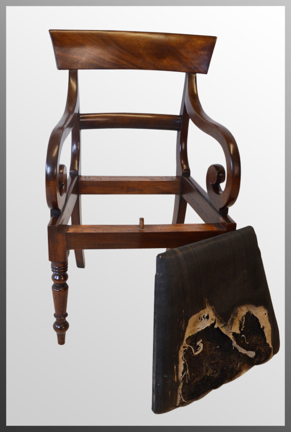 Regency Armchair English Chair Scroll Arm Antiques Atlas