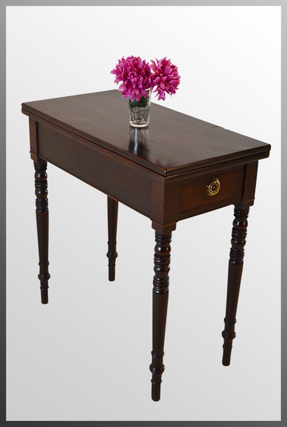 Regency tea console lamp hall folding table antiques atlas - Console salle a manger ...