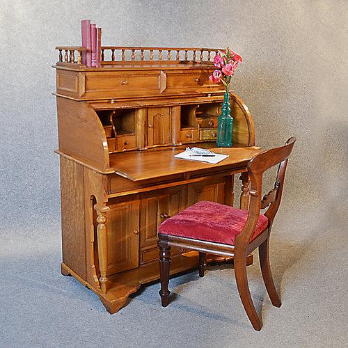 Antiques Atlas Rolltop Bureau Tambour Desk Roll Top