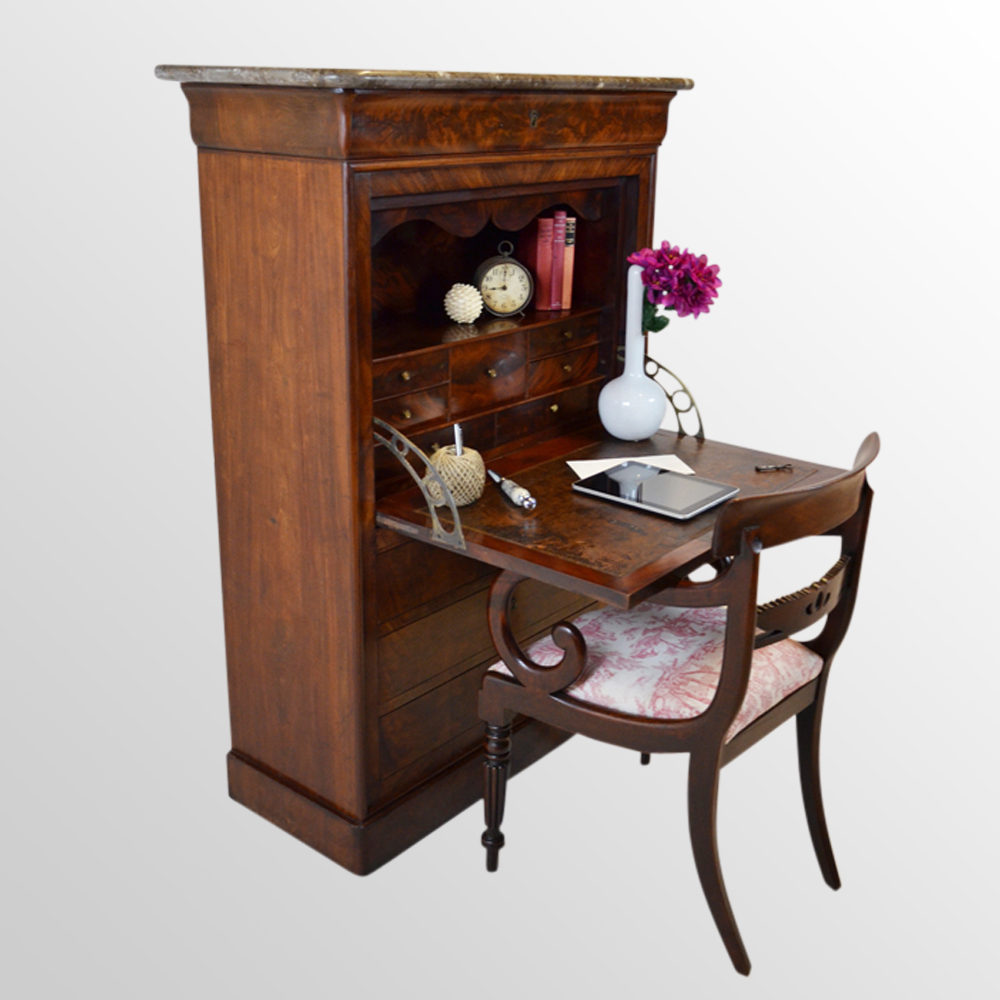 secretaire bureau cabinet french secretary desk antiques. Black Bedroom Furniture Sets. Home Design Ideas