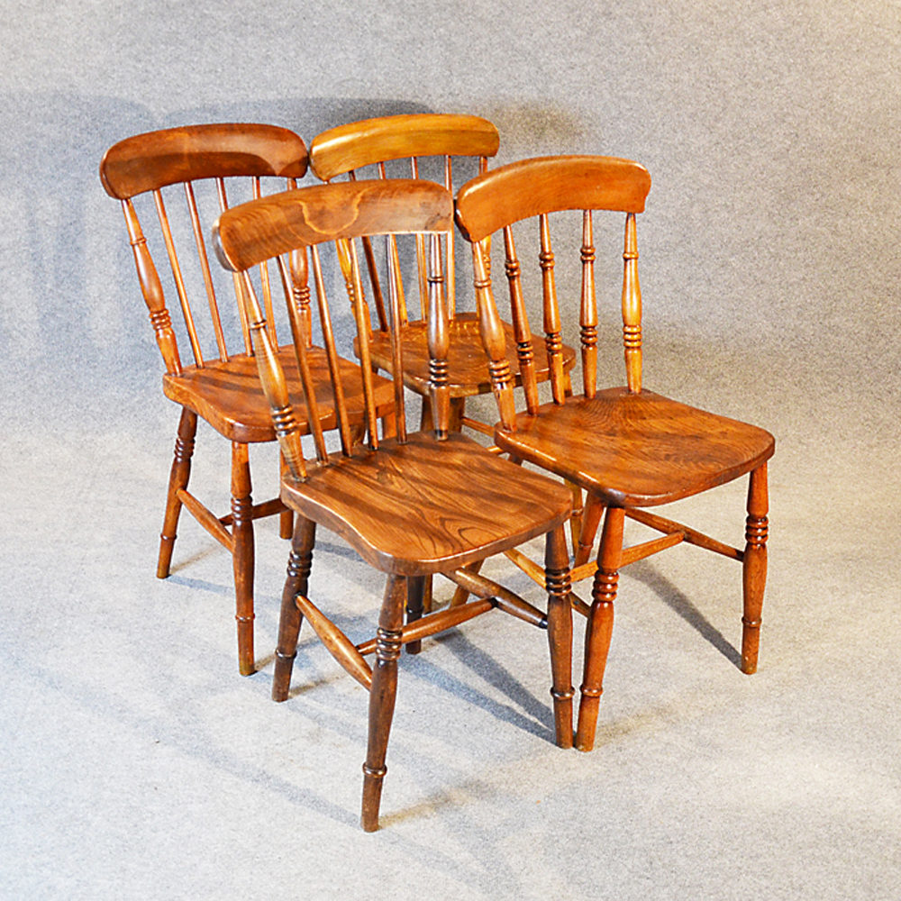 Set 4 Four Elm Country Kitchen Dining Chairs Antiques Atlas
