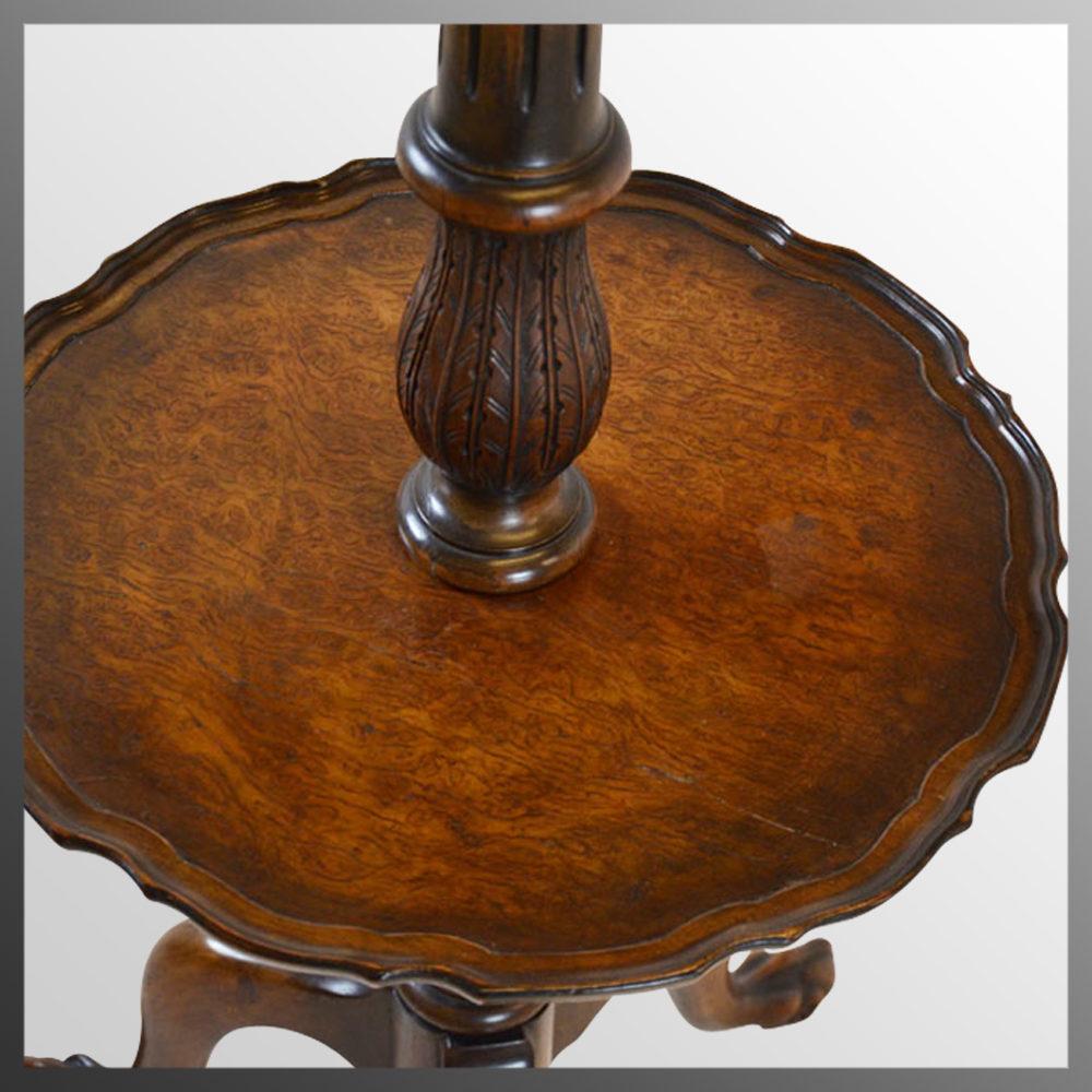 Standard Lamp Wine Table & Shade Tall Floor