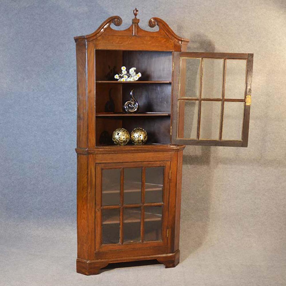 Tall Corner Cupboard Display Cabinet Antiques Atlas