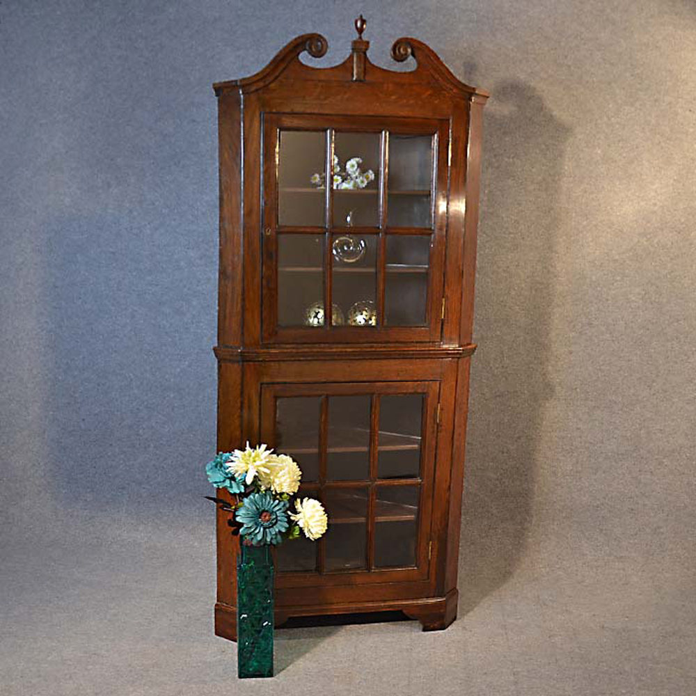 Tall Corner Cupboard Display Cabinet Antiques Atlas