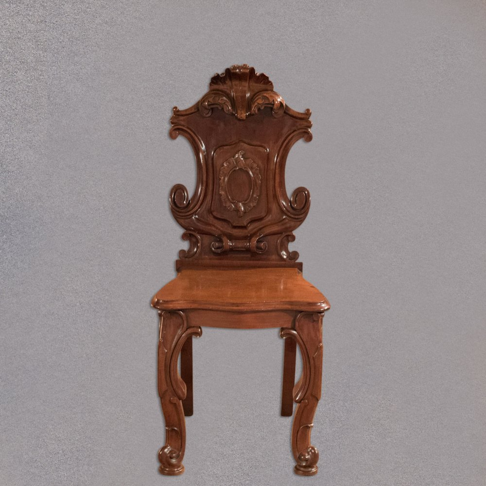 Antique Foyer Chair : Victorian solid shield back hall chair c antiques