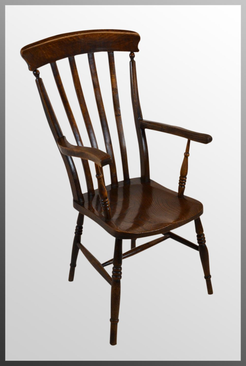 Windsor Lath High Back Chair Country Armchair - Antiques Atlas