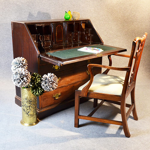 writing bureau large english desk chest antiques atlas. Black Bedroom Furniture Sets. Home Design Ideas