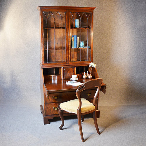 Writing Desk Bureau Bookcase Display Study Cabinet Antique Bureaus