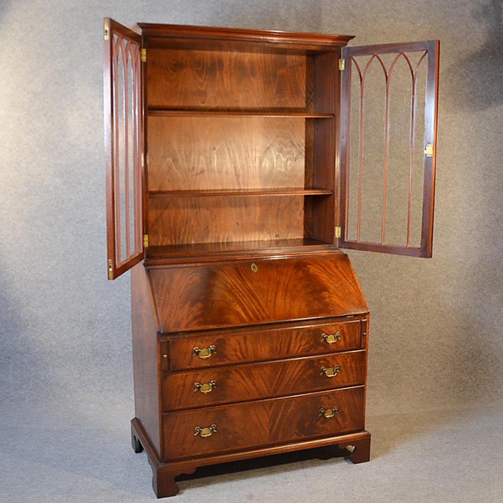 Writing Desk Bureau Bookcase Display Study Cabinet Antiques Atlas