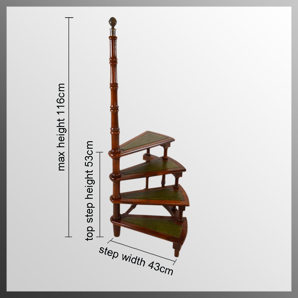 Yew Library Steps Circular Step Ladder Antiques Atlas