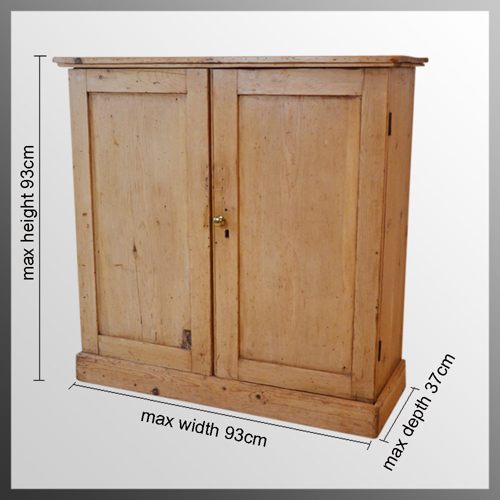 Knotty Pine Kitchen Cabinets For Sale: Ictorian Pine Cabinet Bookcase Twin Door Cupboard