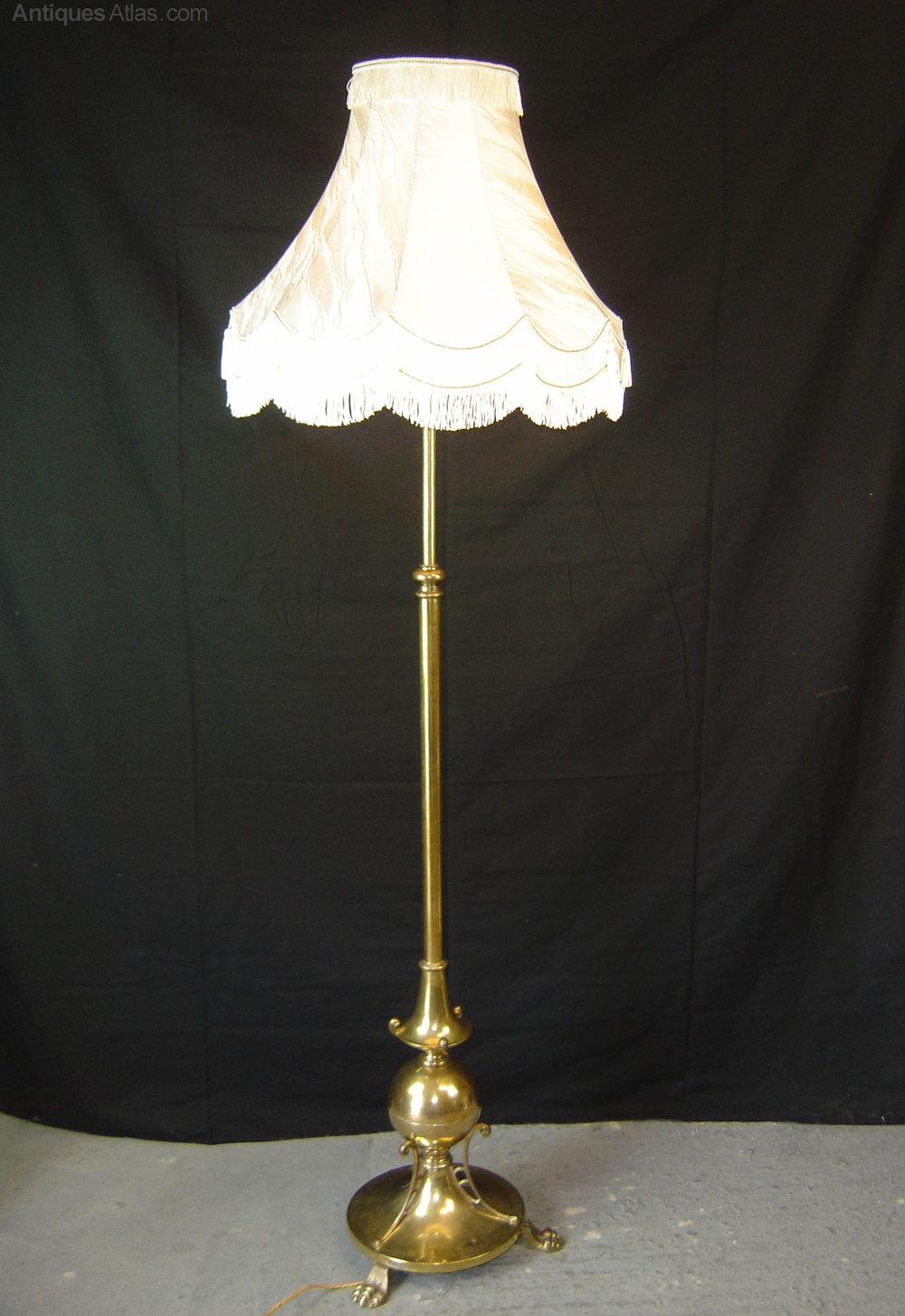 Great An Edwardian Brass Floor Lamp