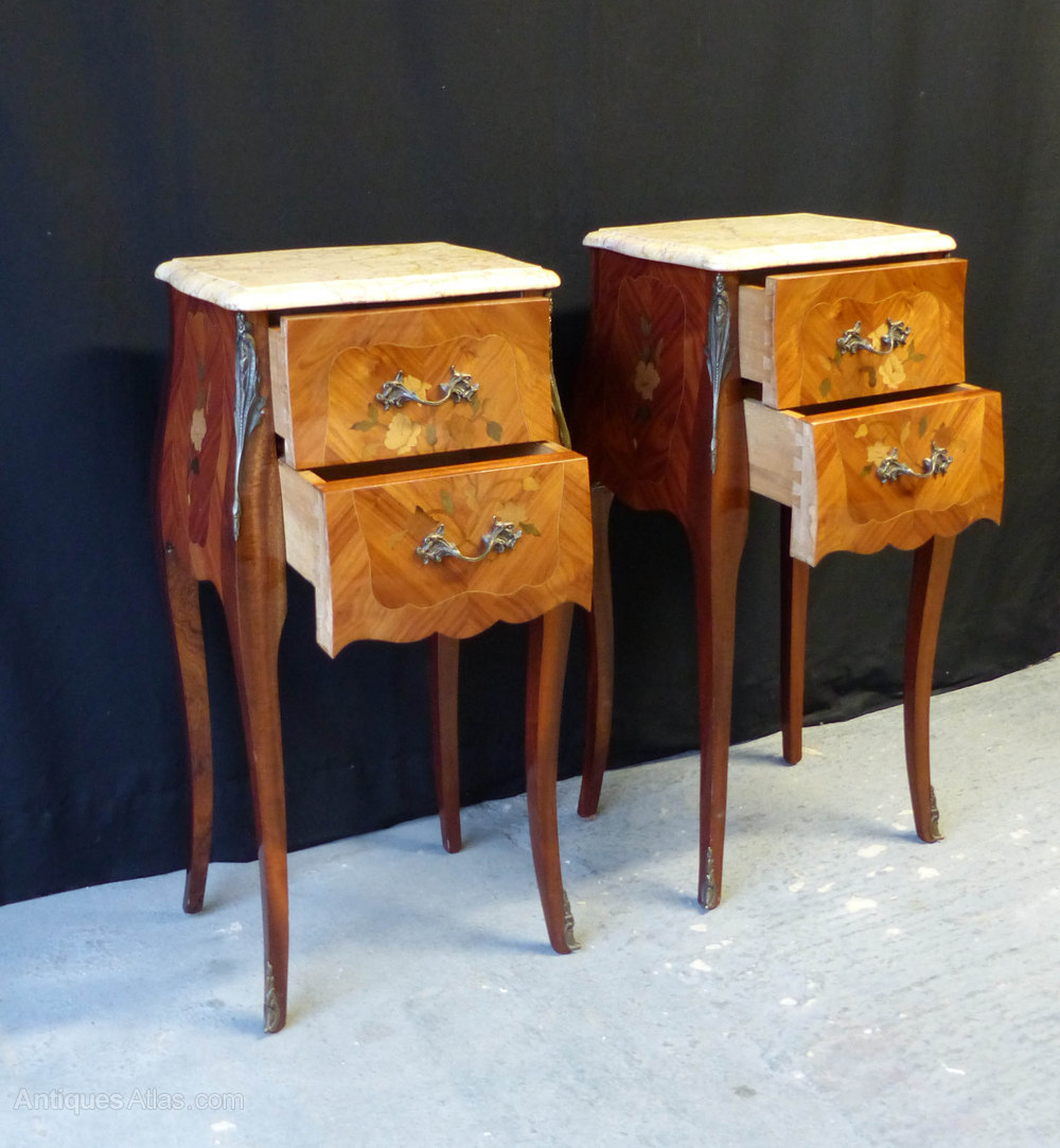 Antiques Atlas Pair Of French Marble Top Night Stands