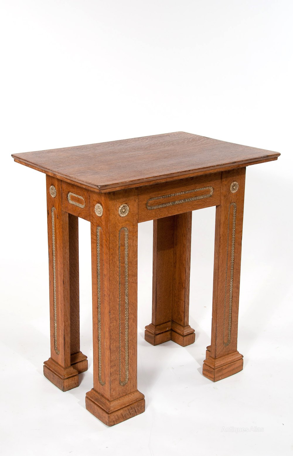 Antique Oak Table ~ An unusual antique oak architectural table antiques atlas