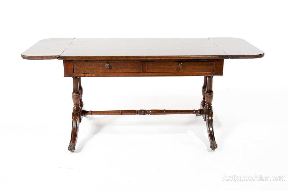 Antique Mahogany Two Drawer Coffee Sofa Table Antiques Atlas
