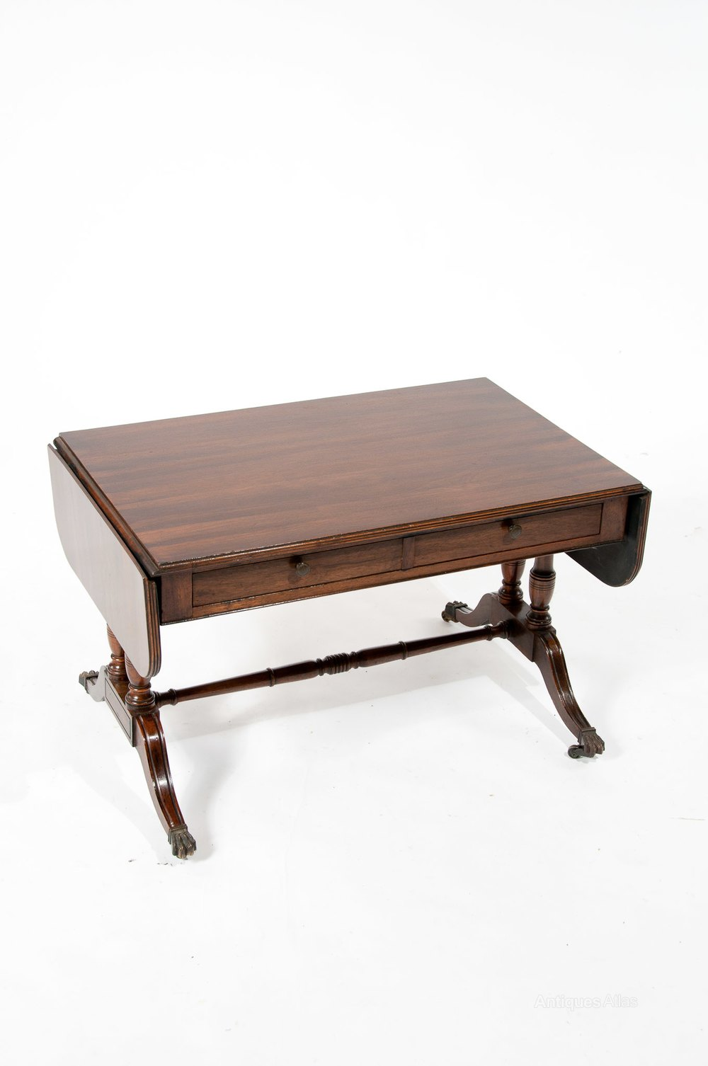 Antique mahogany two drawer coffee sofa table antiques atlas for Sofa table antique