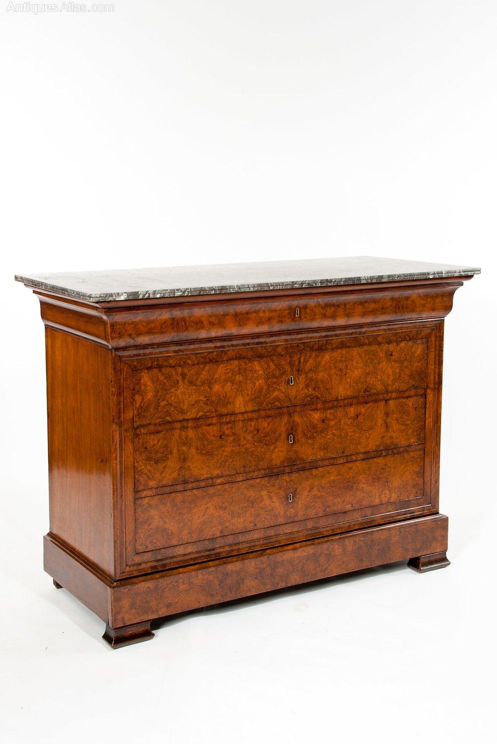 antique walnut french marble chest commode antiques atlas. Black Bedroom Furniture Sets. Home Design Ideas