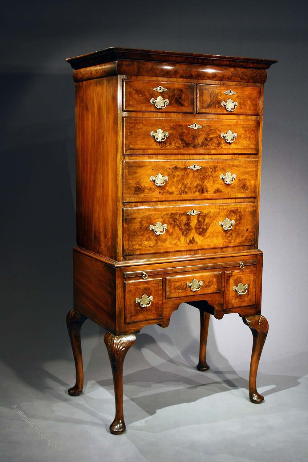 Attractive Antique Walnut Chest On Stand Antiques Atlas