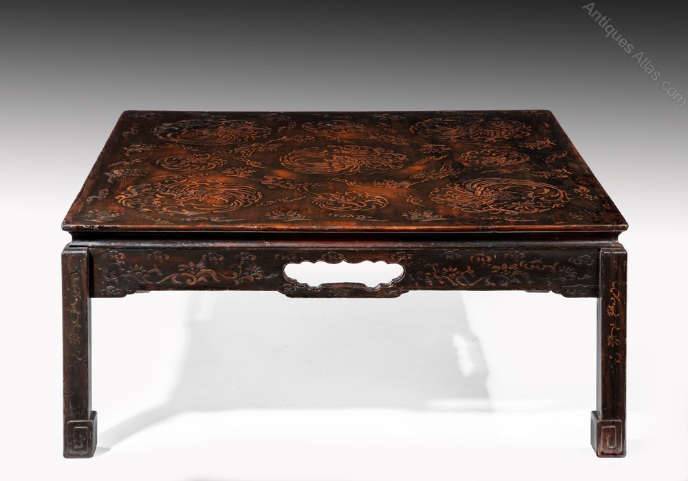 Antiques Atlas Chinese Lacquered Coffee Table Mid 20th C