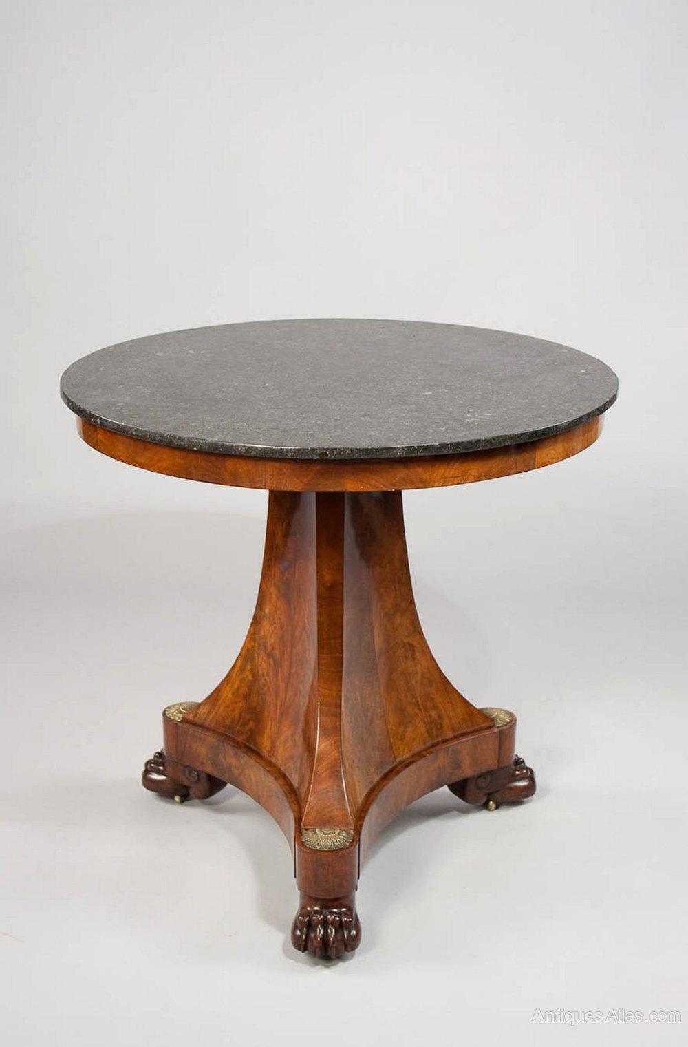 Fine empire gueridon table original condition antiques atlas for Table gueridon