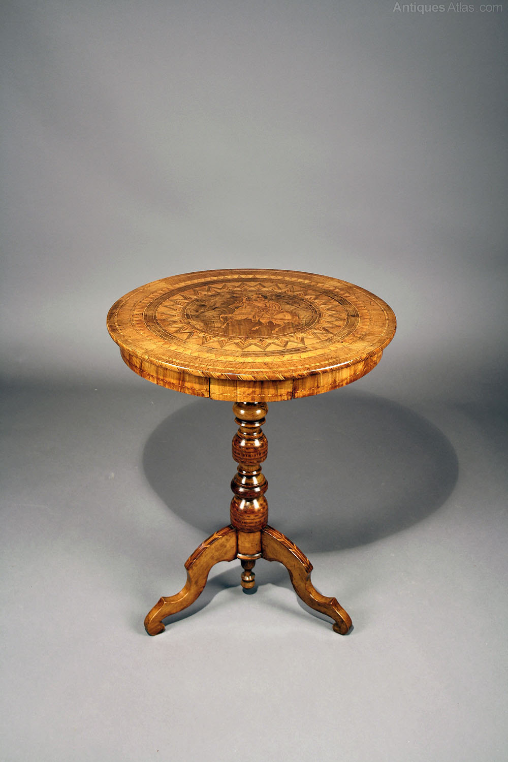 Italian Sorrento Inlaid Occasional Table Antiques Atlas
