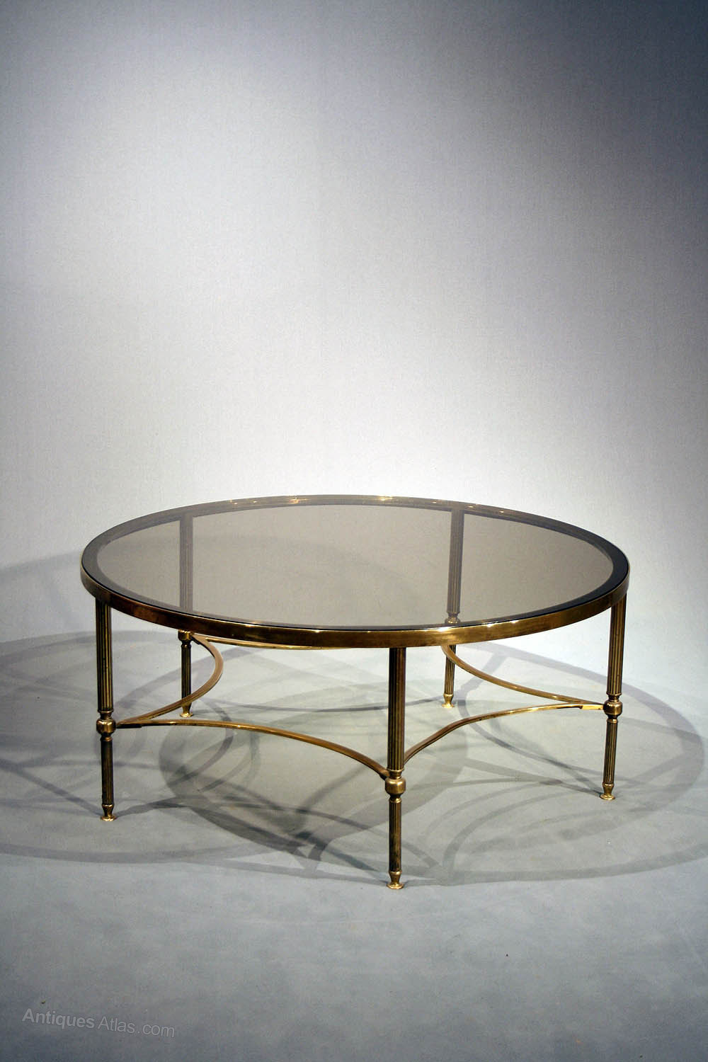 Antiques Atlas Large Brass Round Coffee Table
