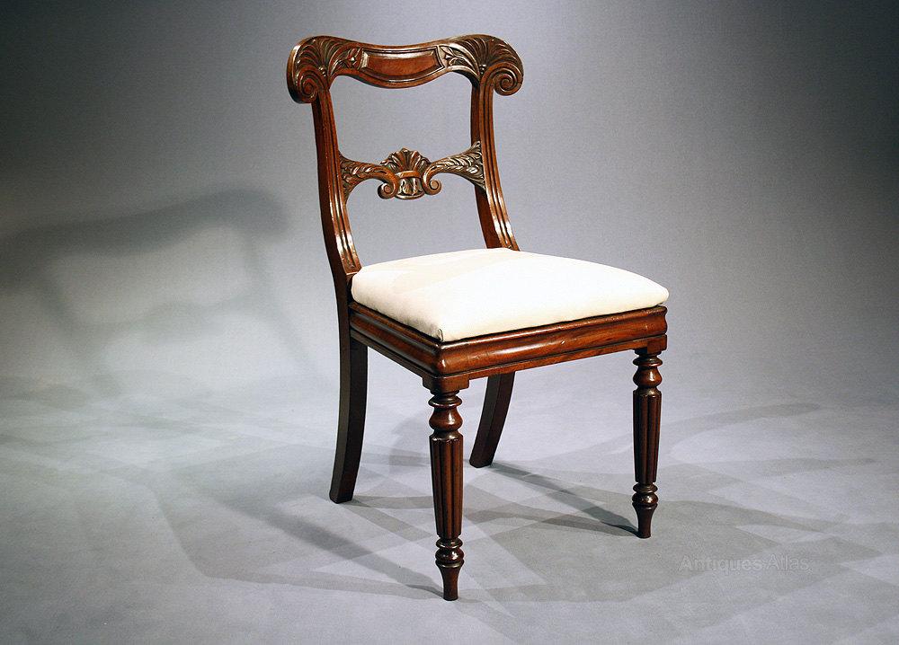 set of four william iv chairs antiques atlas. Black Bedroom Furniture Sets. Home Design Ideas