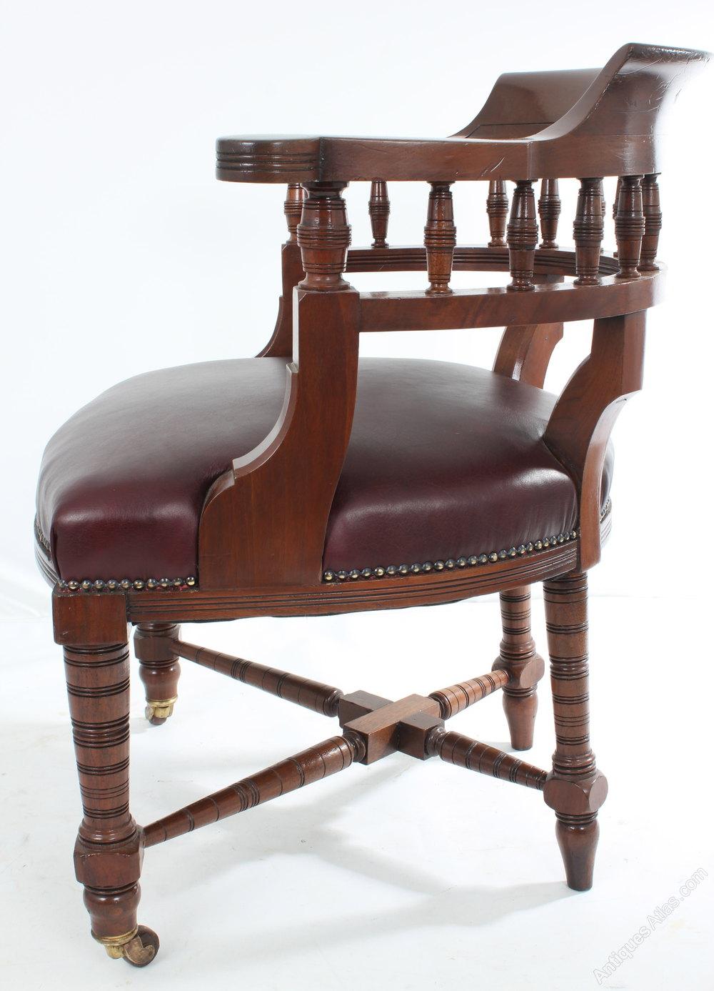 antique mahogany leather desk chair antiques atlas