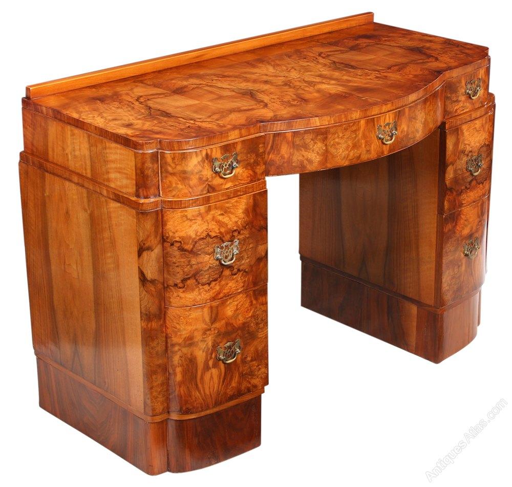 Burr walnut art deco dressing table antiques atlas for Walnut dressing table