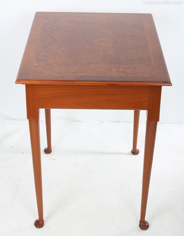 Burr walnut side table antiques atlas for Walnut side table