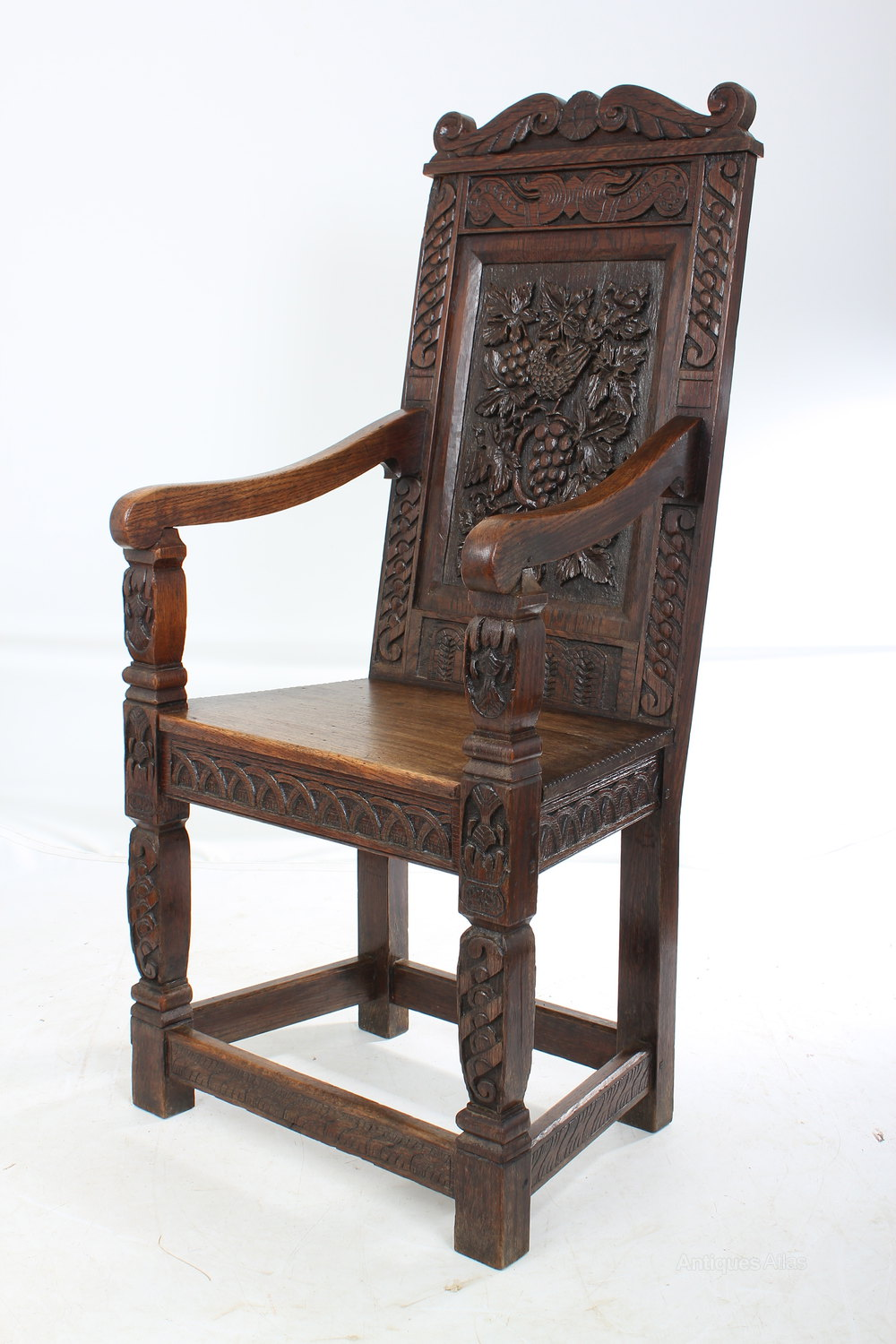 Carved oak wainscot chair antiques atlas
