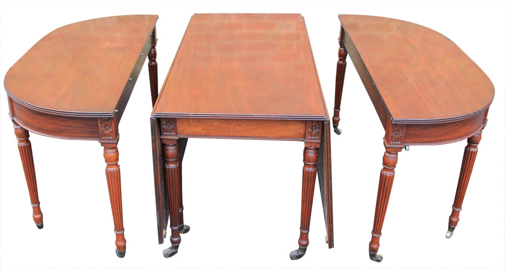 Large Regency D End Dining Table Antiques Atlas